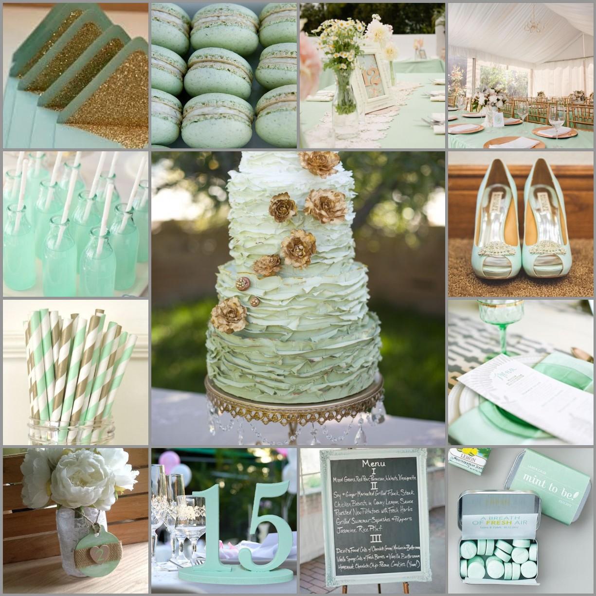 Ivory Gold Wedding Cake